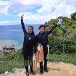 真栄田岬・青の洞窟へヘルパーさんとシュノーケリング