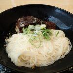 琵琶湖の城下町長浜で年中温かい鯖そうめんを食べてみた。
