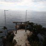 神社仏閣巡り 滋賀長浜から琵琶湖竹生島神社。