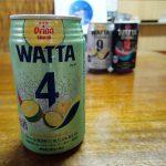 オリオンビールのWATTA4は開けた瞬間シークワーサーの香り漂うチューハイ。