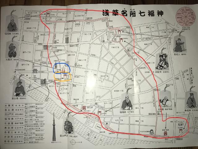 下町散策で浅草七福神めぐりを楽しむ。
