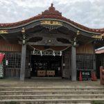 赤瓦と芝生が映えてきれいな宮古神社。