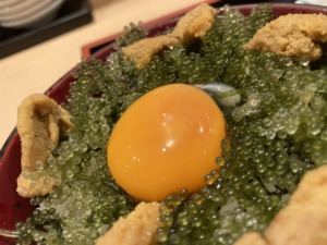 広島【寿し若】ランチ海ぶどうウニ丼や島らっきょ沖縄の味を堪能